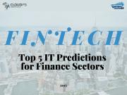Top 5 IT Predictions for Finance Sectors