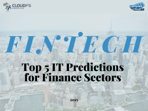 Top 5 IT Predictions for Finance Sectors